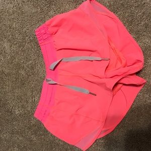 Neon pink hotty hot shorts 2.5""